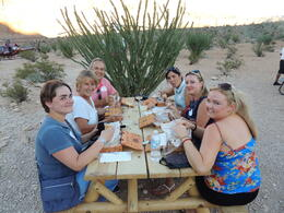 Us and our travel companions dining al fresco at Grand Canyon , Carolyn C - September 2013