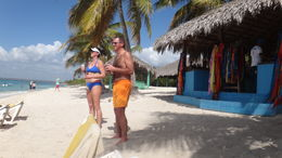 Photo of Punta Cana Catalina Island Snorkel Excursion from Punta Cana Enjoying the beach!