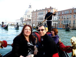 Vicky and Paul on gondola ride being serenaded November 2012. Fantastic would recommend to all , Paul C - November 2012