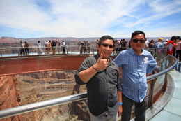 On the glass bridge 4000ft above the canyon's floor. , Hank T - May 2015