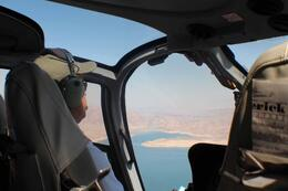 Our pilot flying over Mead Lake , Jack M - September 2012