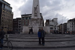 My wife and me in front of National MonumentAmsterdam , RAHUL S - May 2015