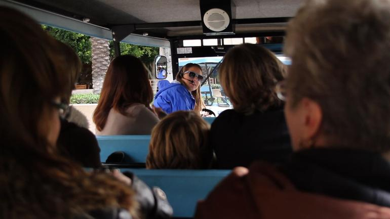 On the tram tour - Los Angeles