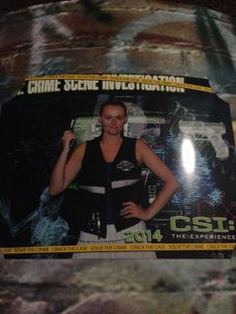 Photo of Las Vegas CSI: The Experience Photo opportunity at the end of the experience
