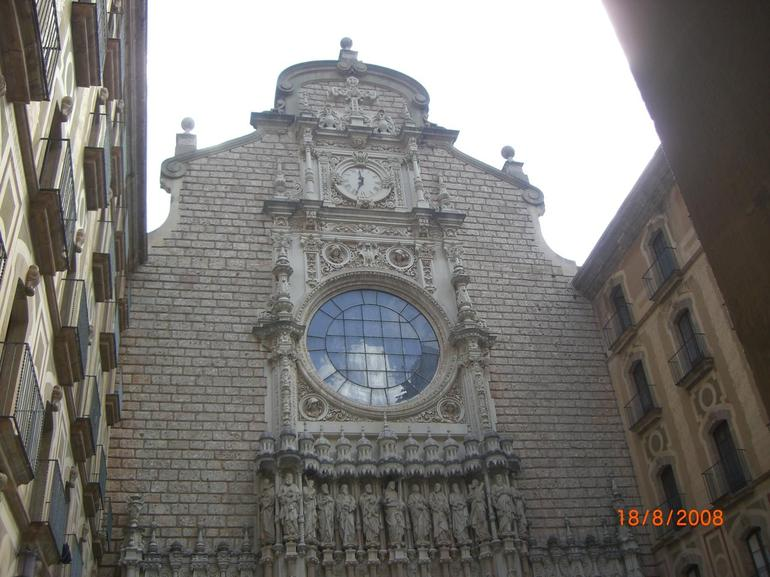 The church at Monserrat Monastery - Barcelona