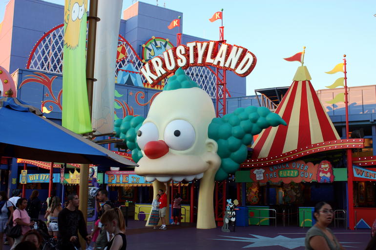 The Simpsons - our FAVOURITE ride! - Los Angeles