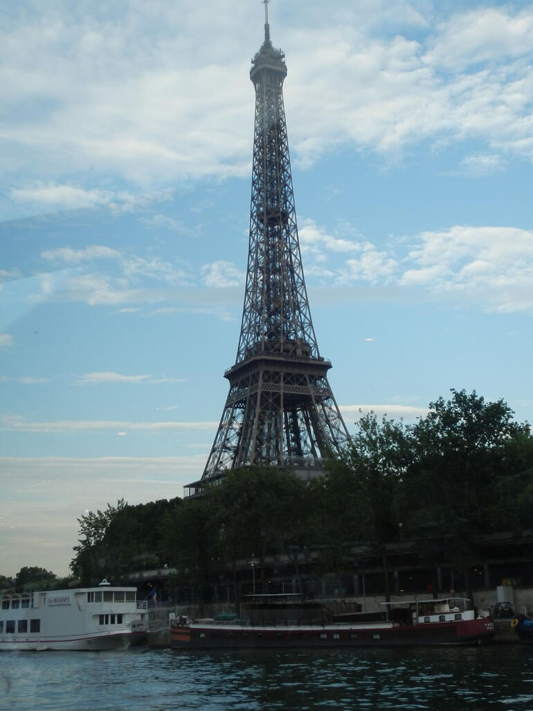 View of the Eiffel Tower on the River Cruise - Paris