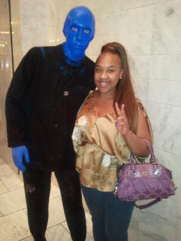 Photo of Las Vegas Blue Man Group at Monte Carlo Resort and Casino With the Blue Men!