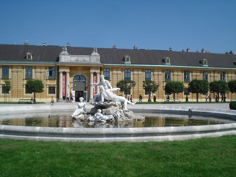 Schonbrunn Palace is huge. It has many beautiful sights to see, among them their fountains.