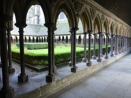 Photo of Paris Mont Saint Michel Day Trip Cloisters at Le Mont Saint Michel