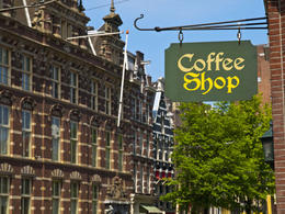 Typical coffee shop in Amsterdam - May 2011