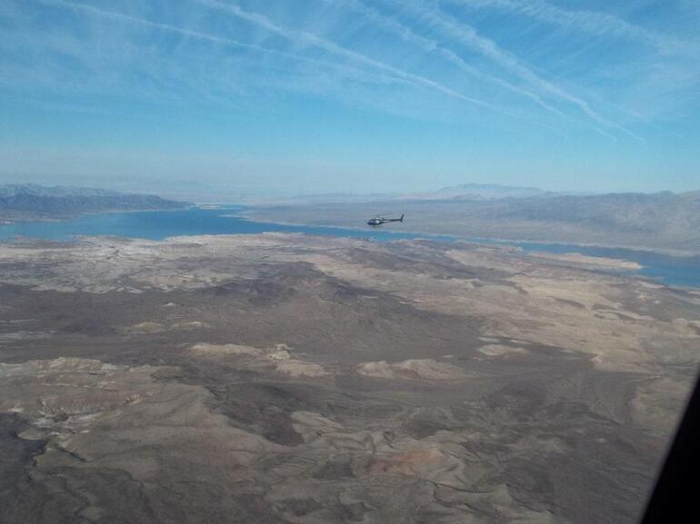 Flying over Lake Mead - Las Vegas