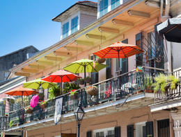 Photo of   French Quarter balcony in New Orleans