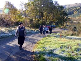 Scottish Highlands: And here comes our wonderful guide!, Christos P - November 2010