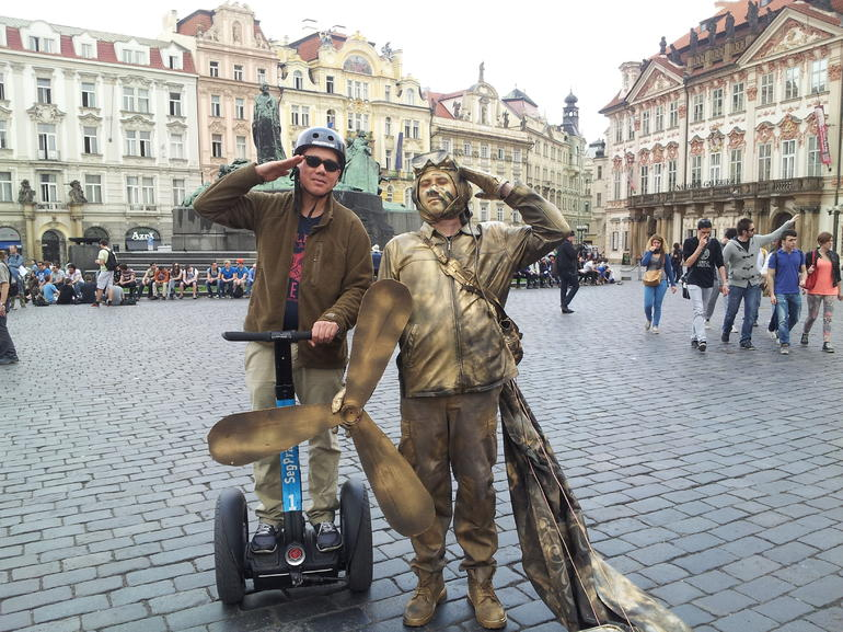 Meeting a fellow flying machine man! - Prague