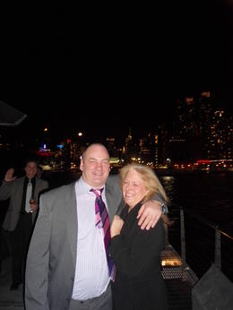 Some evening fresh air looking out at the new york skyline , Trudi S - March 2012