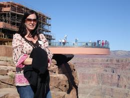 Grand Canyon, Skywalk. My wife, Carla on our honeymoon. - March 2009