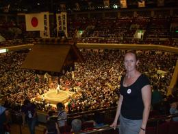 View of the sumo ring, Melanie L - September 2009
