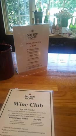Photo of San Francisco Napa and Sonoma Wine Country Tour SUTTER HOME WINE TASTING - LIST