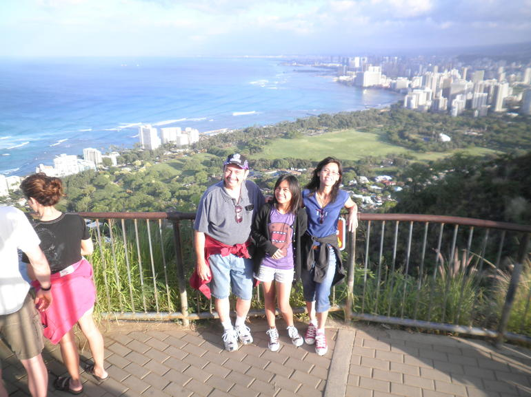 The view once you reach the top of Diamond Head Crater. - Oahu