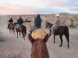 Photo of Las Vegas Wild West Sunset Horseback Ride with Dinner View from the saddle