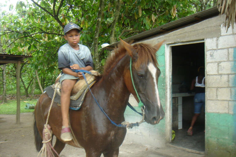 Village child, Dominican countryside outside Punta Cana - Punta Cana