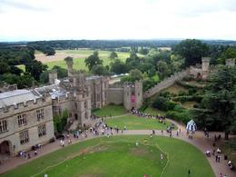 Warwick Castle view from the Caesar's Tower, Georgia C - August 2009