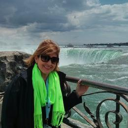 All smiles at the falls! - May 2014