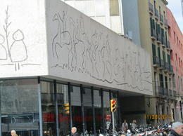 This is the only place that Picasso has a painting on the side of a building, avaliable for free public viewing! Just outstide the Cathedral. , skincanon - January 2012