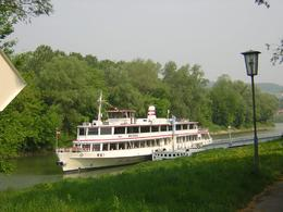 Photo of Vienna Wine Tasting Bike Tour departing Vienna Boat Transportation down Danube River