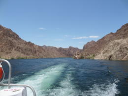 Photo of Las Vegas Black Canyon River Rafting Tour Chugging along the Colorado River