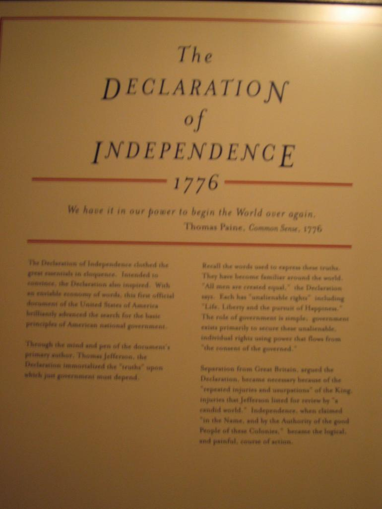Declaration of Independence - New York City
