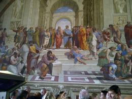 Photo of Rome Skip the Line Vatican Museums Walking Tour with German-Speaking Guide: Sistine Chapel and St Peters Basilica Die Philosophen von Rafael