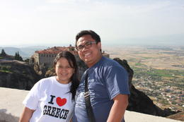 Photo of Athens 2-Day Trip to Delphi and Meteora from Athens Husband and wife at Metgeora