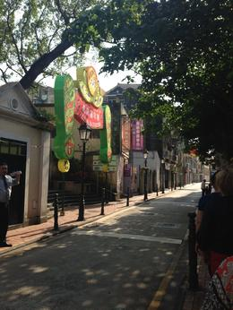 Macau street full of Portuguese influence, Bing - January 2014