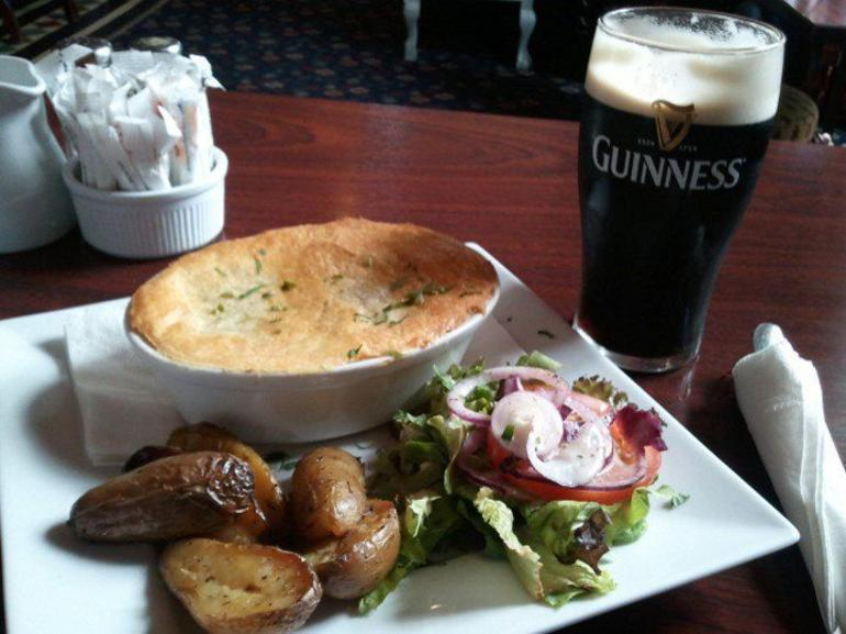 lunch at Blarney Woolen Mills - Dublin