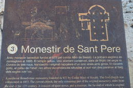 Sign for St. Peter Monastery in Besalu , Michelle Y - January 2015