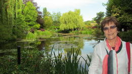 I took so many beautiful phtos at Monets Gardens, thought I would sneak into this one myself , June H - June 2011