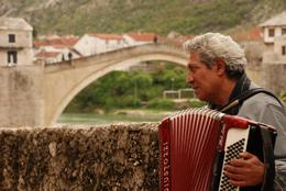 A gypsy performed near the Old Bridge of Mostar -epic! , Sophia A - May 2012
