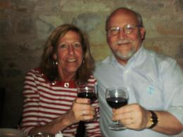 My wife and I enjoying some special wine and a great dinner in Tuscany. , Jaybird - May 2011