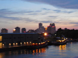 Photo of New Orleans Steamboat Natchez Jazz Dinner Cruise View as we left dock, New Orleans. Beautiful skyline.