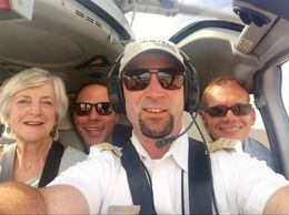 Selfie with our pilot, Devon. , Paul S - May 2015