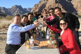 Photo of Las Vegas Grand Canyon All American Helicopter Tour Group Cheers