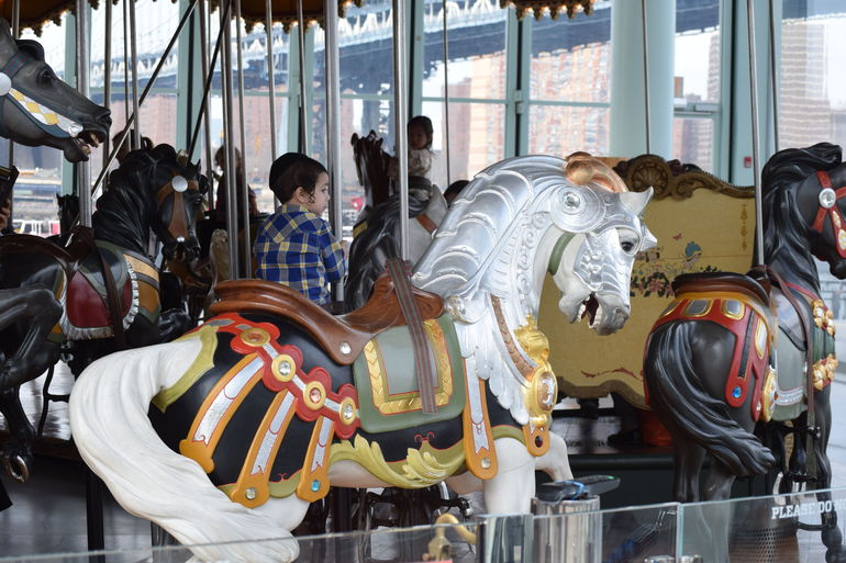 A gorgeous restored carousel, fully operational. A true treat.