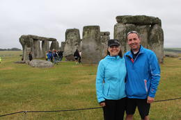 Photo of   Me and my wife, Pam, at Stonehenge