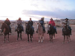 Our happy group after a most enjoyable trail ride. , SueRhos - December 2011