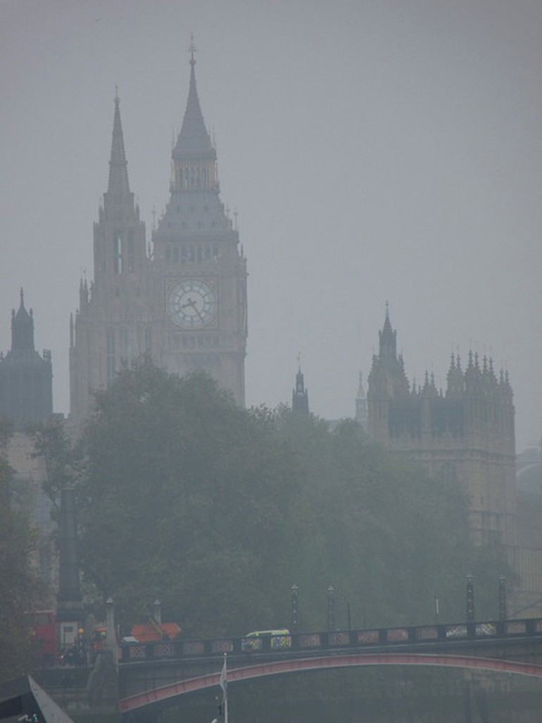 Misty Big Ben - London
