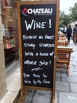Photo of Paris French Wine Tasting in Paris Sign in front of O Chateau, Paris France