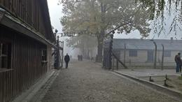Photo of Krakow Krakow Super Saver: Auschwitz-Birkenau Half-Day Tour plus Wieliczka Salt Mine Half-Day Tour The gates outside Auschwitz