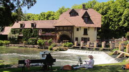 Local artists were trying to capture this quaint old mill. Lunch and wine were first class. , June H - June 2011